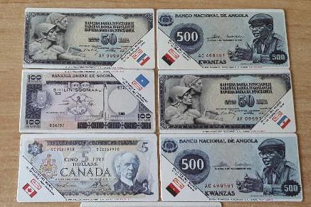 billetes del mundo de panrico