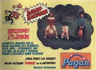 balón saltador de Mortadelo y Filemón