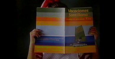 libro vacaciones santillana años 80