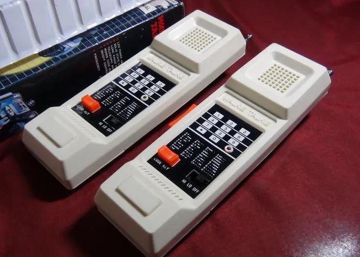 walkie talkie de los años 80