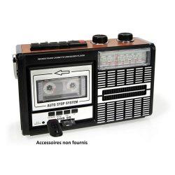 radio cassette estilo vintage retro