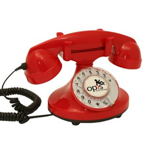 teléfono de estilo retro vintage