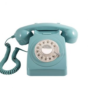 teléfono de rueda vintage