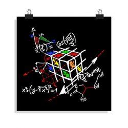 póster cubo de rubik